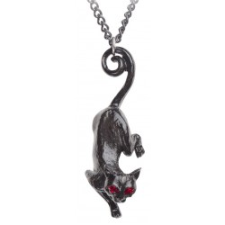 Cat Sith Black Pewter Necklace Egyptian Marketplace  Egyptian Decor Statues, Jewelry & Art - God Statues & Museum Replicas