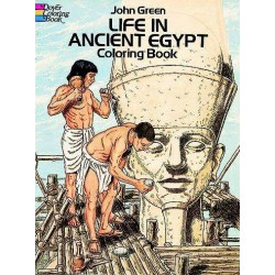 Life in Ancient Egypt Coloring Book Egyptian Marketplace  Egyptian Decor Statues, Jewelry & Art - God Statues & Museum Replicas