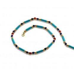 Egyptian Turquoise and Lapis Bead Necklace Egyptian Marketplace  Egyptian Decor Statues, Jewelry & Art - God Statues & Museum Replicas