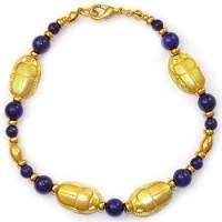 Scarab and Lapis Egyptian Bracelet