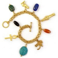 Egyptian Amulet Charm Bracelet