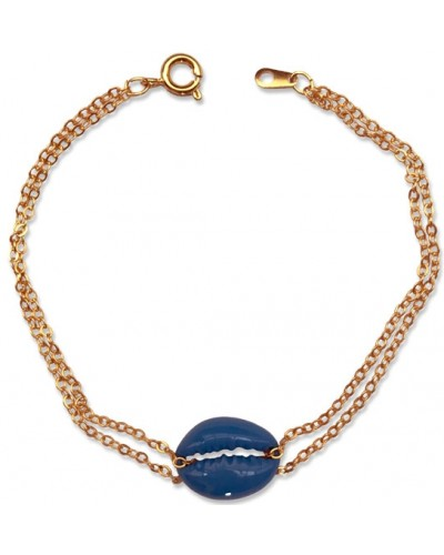 Blue Cowrie Shell Bracelet at Egyptian Marketplace,  Egyptian Decor Statues, Jewelry & Art - God Statues & Museum Replicas