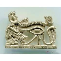 Royal Eye of Horus Pectoral Pendant Egyptian Marketplace  Egyptian Decor Statues, Jewelry & Art - God Statues & Museum Replicas