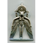 Winged Sekhmet Egyptian Goddess Pendant