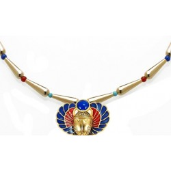 Winged Scarab Lapis and Gold Egyptian Necklace Egyptian Marketplace  Egyptian Decor Statues, Jewelry & Art - God Statues & Museum Replicas