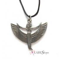Winged Isis Pewter Pendant