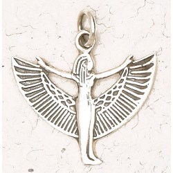 Winged Isis Sterling Silver Pendant Egyptian Marketplace  Egyptian Decor Statues, Jewelry & Art - God Statues & Museum Replicas