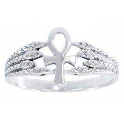Egyptian Ankh Snake Silver Ring Egyptian Marketplace  Egyptian Decor Statues, Jewelry & Art - God Statues & Museum Replicas