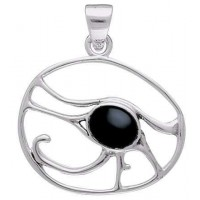 Egyptian Eye of Horus Pendant with Gemstone