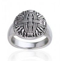 Celtic Cross of St Brigid Silver Ring