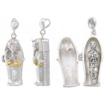 Egyptian Coffin Pendant with Mummy at Egyptian Marketplace,  Egyptian Decor Statues, Jewelry & Art - God Statues & Museum Replicas