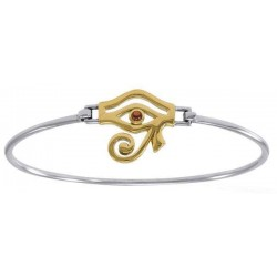 Eye of Horus Sterling and Gold Bangle Bracelet Egyptian Marketplace  Egyptian Decor Statues, Jewelry & Art - God Statues & Museum Replicas