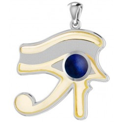 Lapis Eye of Horus Gold Accented Pendant Egyptian Marketplace  Egyptian Decor Statues, Jewelry & Art - God Statues & Museum Replicas