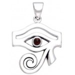Eye of Horus Egyptian Pendant with Gemstone at Egyptian Marketplace,  Egyptian Decor Statues, Jewelry & Art - God Statues & Museum Replicas