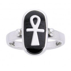 Ankh Sterling Silver Egyptian Ring Egyptian Marketplace  Egyptian Decor Statues, Jewelry & Art - God Statues & Museum Replicas