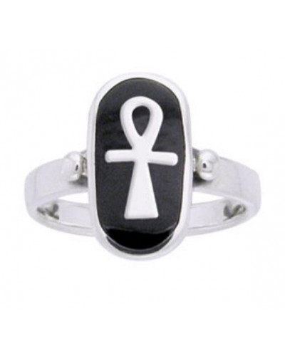 Ankh Sterling Silver Egyptian Ring at Egyptian Marketplace,  Egyptian Decor Statues, Jewelry & Art - God Statues & Museum Replicas