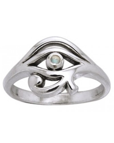 Eye of Horus Egyptian Ring with Gemstone at Egyptian Marketplace,  Egyptian Decor Statues, Jewelry & Art - God Statues & Museum Replicas