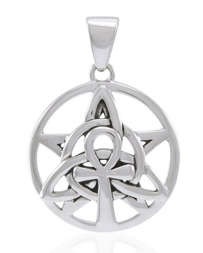 Sacred Symbol Sterling Silver Pendant at Egyptian Marketplace,  Egyptian Decor Statues, Jewelry & Art - God Statues & Museum Replicas