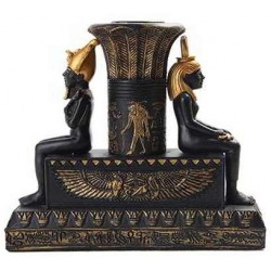 Isis and Osiris Egyptian Candle Holder Egyptian Marketplace  Egyptian Decor Statues, Jewelry & Art - God Statues & Museum Replicas