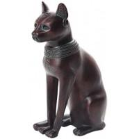 Bastet Egyptian Cat Goddess Antique Bronze Finish Small Statue