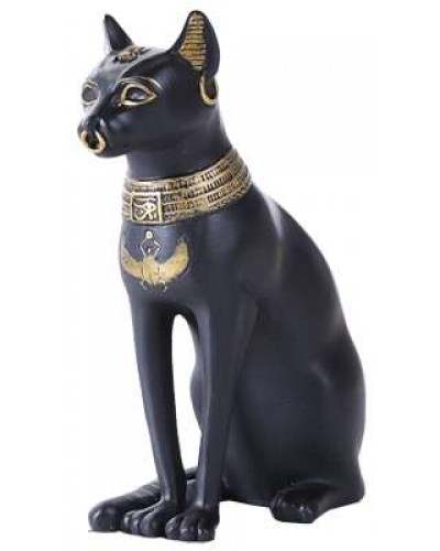Bastet Small Egyptian Cat Statue at Egyptian Marketplace,  Egyptian Decor Statues, Jewelry & Art - God Statues & Museum Replicas