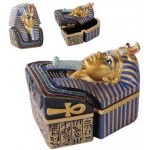 Golden Mask of King Tut Trinket Box at Egyptian Marketplace,  Egyptian Decor Statues, Jewelry & Art - God Statues & Museum Replicas