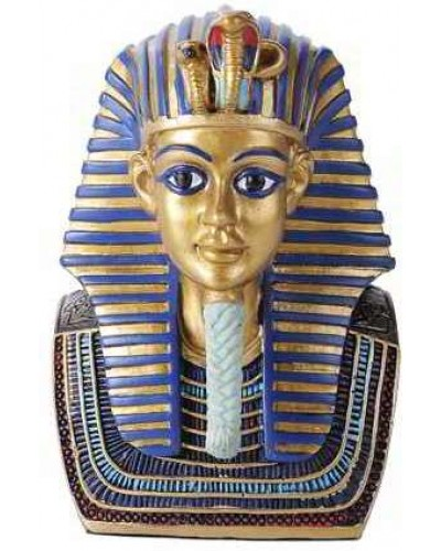 Golden Mask of King Tut Bust 5 Inch Statue at Egyptian Marketplace,  Egyptian Decor Statues, Jewelry & Art - God Statues & Museum Replicas