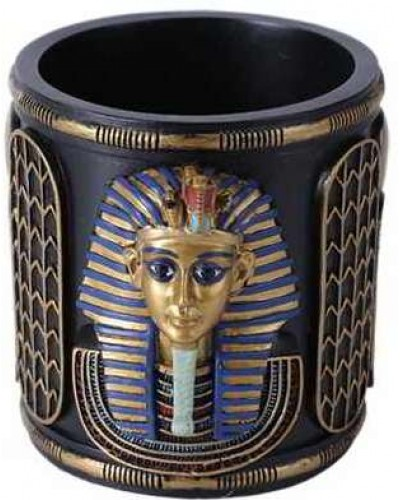 King Tut Utility Cup Holder at Egyptian Marketplace,  Egyptian Decor Statues, Jewelry & Art - God Statues & Museum Replicas