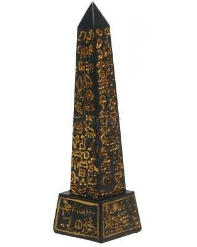 Egyptian Obelisk Mini Statue Black and Gold at Egyptian Marketplace,  Egyptian Decor Statues, Jewelry & Art - God Statues & Museum Replicas