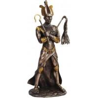 Osiris Egyptian God of the Underworld Bronze Resin Statue