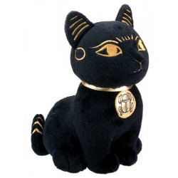 Bast Egyptian Cat Goddess Plushie Egyptian Marketplace  Egyptian Decor Statues, Jewelry & Art - God Statues & Museum Replicas