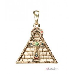 Ankh Pyramid Egyptian Necklace