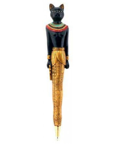 Bastet Cat Refillable Ball Point Pen at Egyptian Marketplace,  Egyptian Decor Statues, Jewelry & Art - God Statues & Museum Replicas