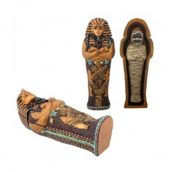 King Tut Small Coffin with Mummy Egyptian Marketplace  Egyptian Decor Statues, Jewelry & Art - God Statues & Museum Replicas