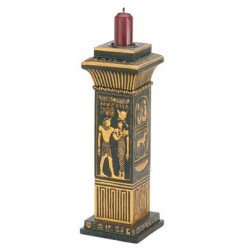 Egyptian Column Candle Holder Egyptian Marketplace  Egyptian Decor Statues, Jewelry & Art - God Statues & Museum Replicas