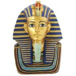 Golden Mask of King Tut Bust 9 Inch Statue at Egyptian Marketplace,  Egyptian Decor Statues, Jewelry & Art - God Statues & Museum Replicas