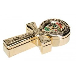 Ankh Gold Plated Jeweled Box