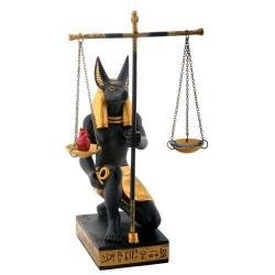 Anubis Scales of Justice Statue Egyptian Marketplace  Egyptian Decor Statues, Jewelry & Art - God Statues & Museum Replicas
