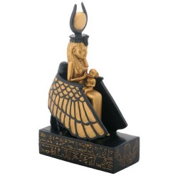Isis Nursing Horus in Winged Throne Statue Egyptian Marketplace  Egyptian Decor Statues, Jewelry & Art - God Statues & Museum Replicas