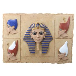 Egyptian Pharaoh Crown Plaque Egyptian Marketplace  Egyptian Decor Statues, Jewelry & Art - God Statues & Museum Replicas