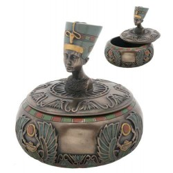 Nefertiti Egyptian Round Trinket Box Egyptian Marketplace  Egyptian Decor Statues, Jewelry & Art - God Statues & Museum Replicas