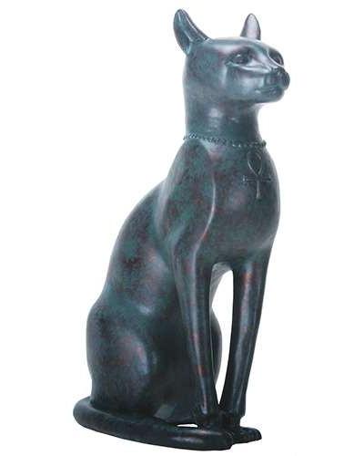 Bastet Antique Bronze Finish Cat Goddess Statue at Egyptian Marketplace,  Egyptian Decor Statues, Jewelry & Art - God Statues & Museum Replicas