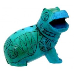 Egyptian Blue Hippo Mini Statue Egyptian Marketplace  Egyptian Decor Statues, Jewelry & Art - God Statues & Museum Replicas