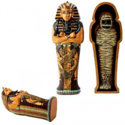 King Tut Coffin with King Tut Mummy Egyptian Marketplace  Egyptian Decor Statues, Jewelry & Art - God Statues & Museum Replicas