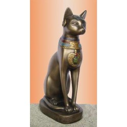 Bastet 8 Inch Bronze Finished Statue Egyptian Marketplace  Egyptian Decor Statues, Jewelry & Art - God Statues & Museum Replicas