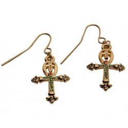 Ankh Egyptian Cross Earrings Egyptian Marketplace  Egyptian Decor Statues, Jewelry & Art - God Statues & Museum Replicas
