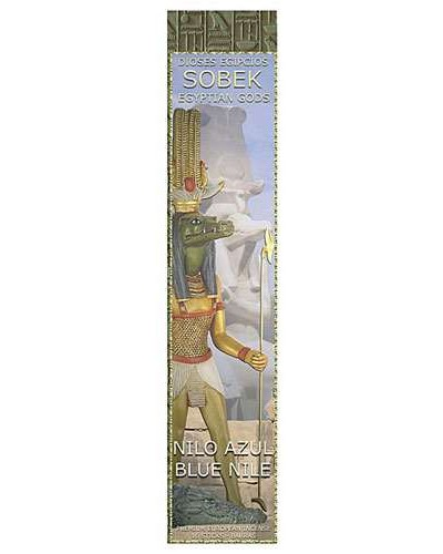 Sobek Blue Nile Egyptian Incense Sticks - Pack of 3 at Egyptian Marketplace,  Egyptian Decor Statues, Jewelry & Art - God Statues & Museum Replicas