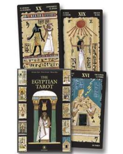 Egyptian Tarot Cards Boxed Kit at Egyptian Marketplace,  Egyptian Decor Statues, Jewelry & Art - God Statues & Museum Replicas