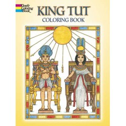 King Tut Egyptian Design Coloring Book