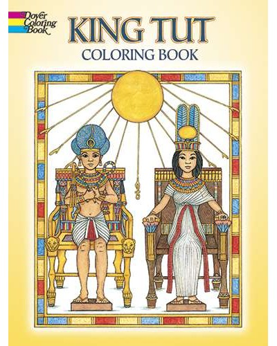 King Tut Egyptian Design Coloring Book at Egyptian Marketplace,  Egyptian Decor Statues, Jewelry & Art - God Statues & Museum Replicas